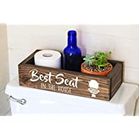 Toilet Paper Holder -Best Seat in the House Sign - Funny Bathroom Humor- Bathroom Decor