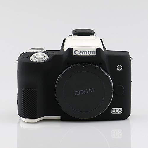 - HellowPower Canon M50 Camera Housing Camera Body Case Cover Soft Silicone Protective Accessory Rubber Detachable Protection Camera Bag for Canon M50 Digital Camera (Black)