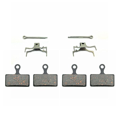 ODIER Bike Disc Brake Pads for Shimano SLX XT XTR M615 M666 M675 M785 M985 M988 Disc Brake Pads Made of Kevlar Fiber and Copper Stronger Braking Power Less Noise 2 Pairs (F-SLX-XT)