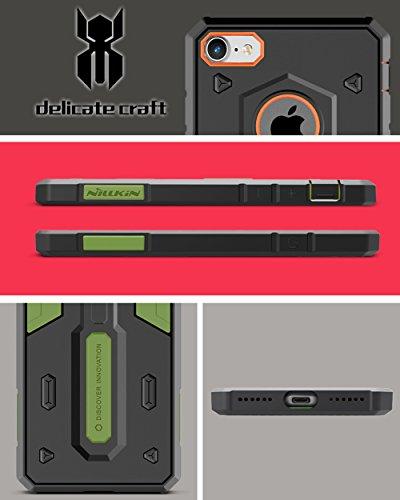 Meimeiwu Shockproof Hybrid TPU + PC Rüstung Hard Case Schutzhülle für iPhone 7 - Orange