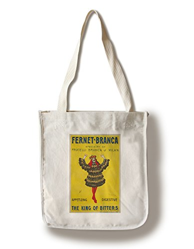 Fernet - Branca - The King of Bitters (Artist: Cappiello, Leonetto) France c. 1909 - Vintage Advertisement (100% Cotton Tote Bag - Reusable)