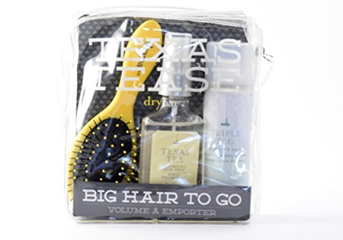Drybar Texas Tease Big Hair to Go set with Lemon Drop, Texas Tea, and Triple Sec