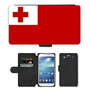 GoGoMobile Flip PU Leather Wallet Case with Credit Card Slots // V00001176 tonga National Country Flag // Samsung Galaxy S3 S III SIII i9300