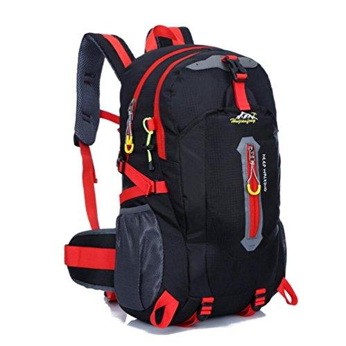 40L impermeable de nylon y las mujeres de los hombres que va de excursión que acampa Mochila Mochila Montañismo Escalada Senderismo ciclo al aire libre se divierte el bolso , blue Black
