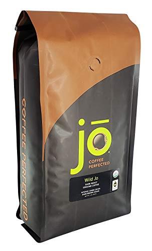 WILD JO: 2 lb, Dark French Roast Organic Ground Coffee, Bold Strong Rich Wicked Good Coffee! Great Brewed or Cold Brew, USDA Certified Fair Trade Organic, 100% Arabica Coffee NON-GMO Gluten Free by Jo