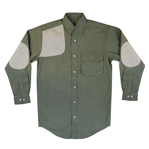Capital Sportsman Remington Long Sleeve Shooter Shirt With Elbow Patch (X-Large, Moss and Mushroom) - Men Elbow Patch Shirt