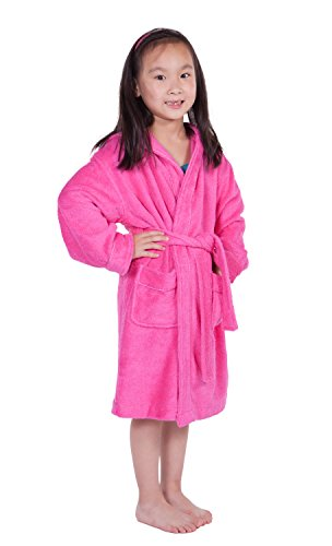 Le Top Hooded Robe (Kid's Bathrobe - Cozy Hooded Terry Cloth Children's Bathrobe for Boys and Girls (French Rose, Small) Top Christmas Gifts for Kids)