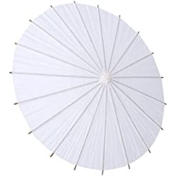 GLOGLOW White Paper Umbrella Wedding Favor Party Decoration Chinese Parasol Bridal Photograph Accessory Art Display(20cm)