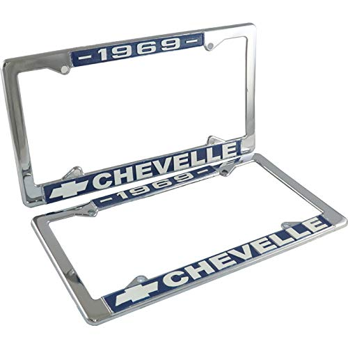Eckler's Premier Quality Products 50-211997 Chevelle License Plate Frames,