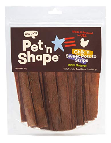 (Pet 'n Shape Chik 'n Sweet Potato Stix - Made and Sourced in the USA-All Natural Healthy Dog Treat)