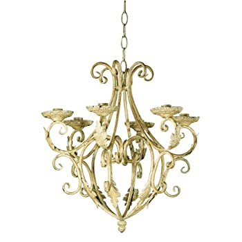 Gifts & Decor Wrought Iron Royaltys Candleholder Chandelier