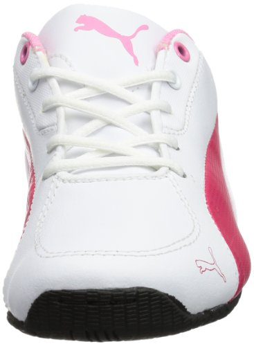 Puma Drift Cat 5 L Jr - Zapatillas de cuero infantil blanco - Weiß (white-virtual pink-sachet pink 03)