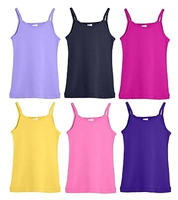 City Threads Girls' Tankini Rash Guard Cami Shirt Top SPF50+ Sun Protection