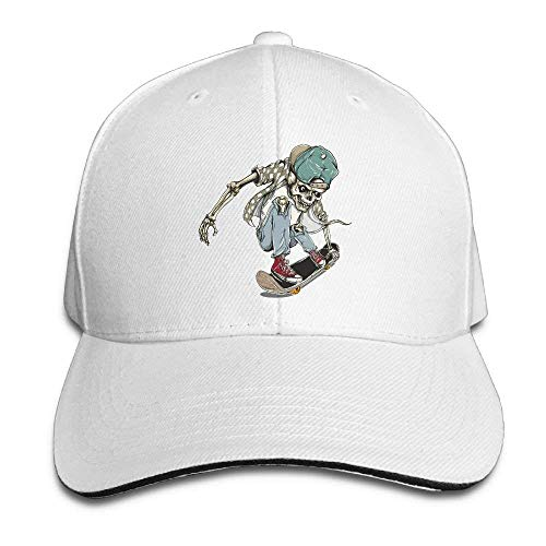 JHDHVRFRr Hat Skate Skull Denim Skull Cap Cowboy Cowgirl Sport Hats for Men Women