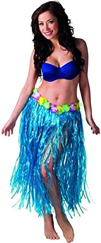 Falda hawaiana azul adulto: Amazon.es: Juguetes y juegos