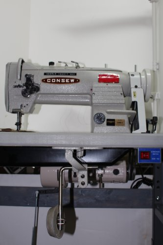 CONSEW 339RB-4  Walking Foot, 2-Needle, 1/4″ Gauge, 4-Thread Industrial Sewing Machine