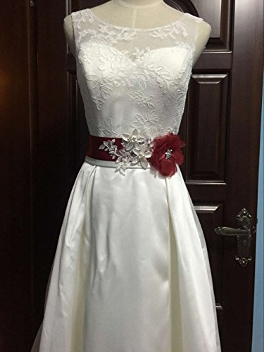 Buy wedding sash bridal belts burgundy