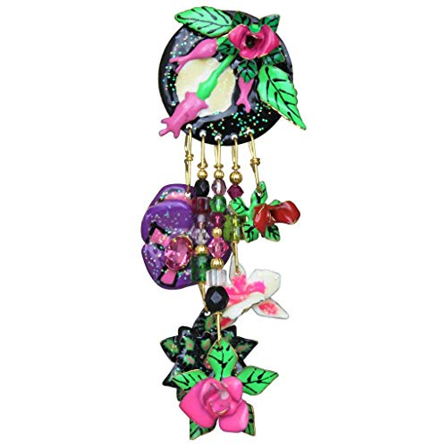 (Lunch At The Ritz FTD Full I Love You Bouquet Pin (Goldtone) Dangle Post Earrings Girls Women Jewelry Anniversary Party Gift Rare from Esme's Vault)