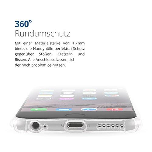 Durchsichtige iPhone Crystal Case Schutzhülle von Danura   Bumper Cover   Passend für das iPhone5, iPhone 5s und iPhone SE   Idealer Schutz gegen Stürze, Stöße und Kratzer