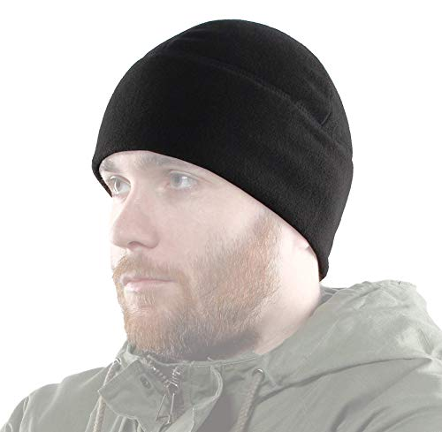 (2Sabers Fleece Winter Warm Black Watch Cap - Men&Woman - Army Tactical Skull Beanie Hat,)