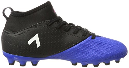 adidas Ace 17.3 Ag J, Botas de Fútbol para Niños Negro (Core Black/ftw White/blue)