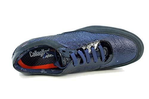 Azul Eu Adaptación blue Zapato Cordón 13204 Callaghan 36 Suela Freetech Mujer HZ0aqv6
