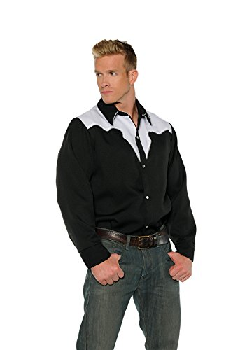 Men's Cowboy Costume - Shirt (Lone Cowboy Adult Costume)