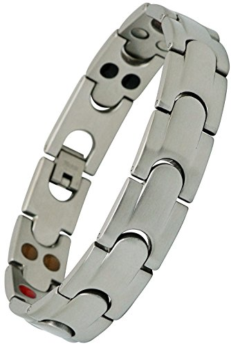 Twin Power Silver Design, Ion - Magnetic Therapy Bracelet...