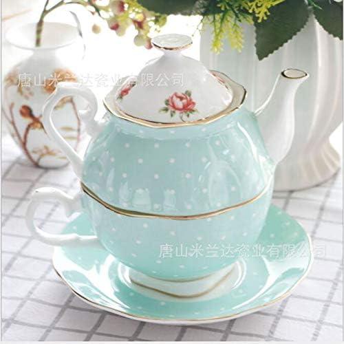 NAIHEQIAO Juego de Café de Té,Porcelana Inglesa,Tetera Impresa Y ...