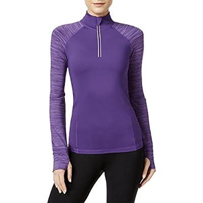 Ideology Womens Space Dye Long Sleeves 1/4 Zip Jacket