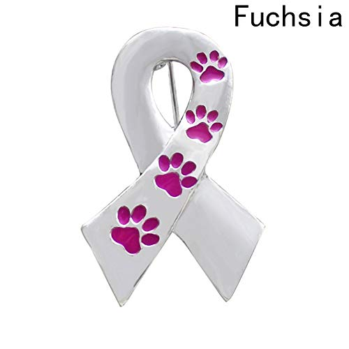 Culturemart Pin Silver Color Alloy Paw Prints Brooch for Women Men Dog Lover Suit Shirt Collar Lapel Pins Gift Scarf Dog Claw Brooch (Claw Brooch)