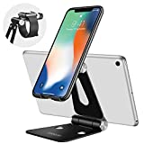 Adjustable Cell Phone Stand Tablet Holders, iPhone & Air iPad Pro Kindle & iWatch 3 in 1 Mini Stands Aluminum Charger Cradle Universal Most Kinds of Phone,iPad,Watch,Joyroom Smartwatch Charging Dock
