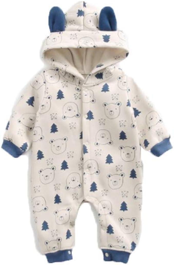 Qinngsha Pijama de Invierno para recién Nacido, con Capucha y ...