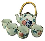 Porcelain Tea Set Teapot and Teacups 28oz