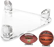 Luxury Transparent Acrylic Ball Display Stand Holds Footballs,Basketballs,Rugby, Volleyballs or Soccer Balls