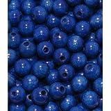 110 Holzperlen 6mm blau speichelfest & schweißecht Made in Germany