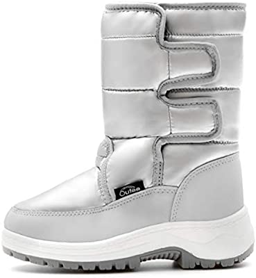 Outee Warm Snow Boots with Faux Fur for Little Kids