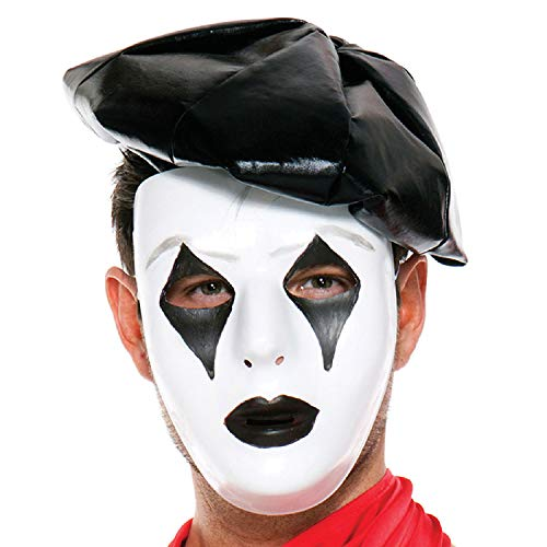 Music Legs Men's French Mime Mask, Black/White, One Size]()