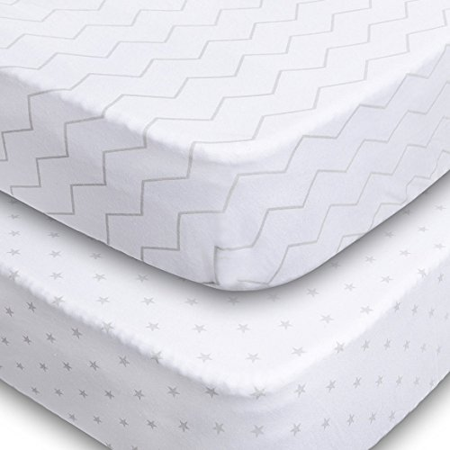 Crib Sheets, 2 Pack Unisex...