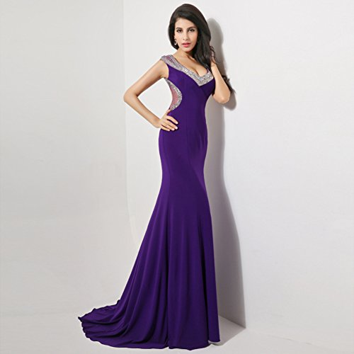 Long Night Gowns Women`s Party cotyledon Dresses v Neck Sleeveless ...