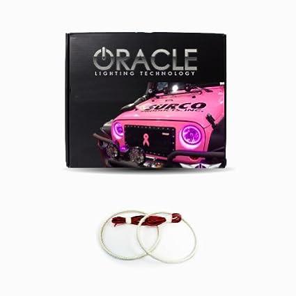 Oracle Lighting JE-WR0713-PK - Jeep Wrangler LED Halo Headlight Kit - Pink  sc 1 st  Amazon.com & Amazon.com: Oracle Lighting JE-WR0713-PK - Jeep Wrangler LED Halo ...