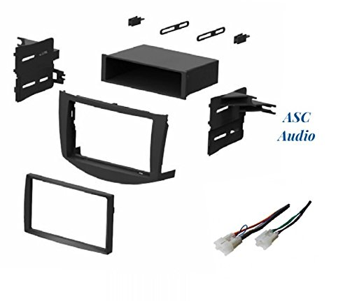 No Factory Premium Amp//JBL Other ASC Audio Car Stereo Dash Install Kit and Wire Harness for Installing an Aftermarket Single or Double Din Radio for 2006 2007 2008 2009 2010 2011 Toyota RAV4 RAV 4