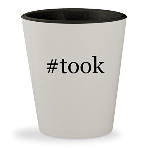 #took - Hashtag White Outer & Black Inner Ceramic 1.5oz Shot Glass