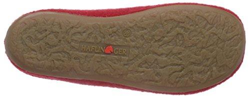 Haflinger Classic 481002 - Pantuflas de tela unisex rojo - Rot (285 ziegelrot)