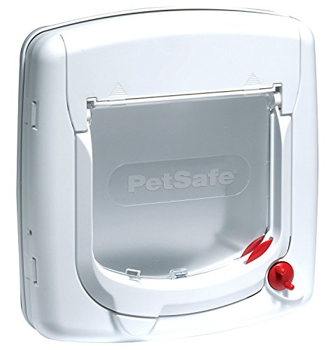(Petsafe Staywell, Deluxe Manual Cat Flap, White, 4 Way Locking, Easy Install)
