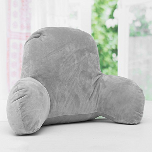 Essort Lounger Bed Rest Back Pillow, Arm Stable Support Backrest Seat Cushion, Grey, 19.68 x 13.78 x 7.87 inches by Essort