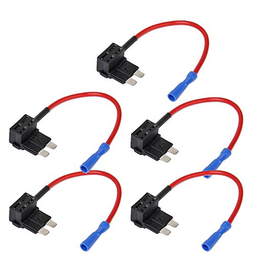 Add Accessories - E Support 12V 24V Standard Add A Circuit Fuse Tap Piggy Back Blade Holder Plug Socket Car Pack of 5