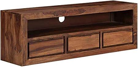 Muebles de madera tablas de mesa carcasa del televisor sólidos gabinete lado corto tablero de la mesa Mueble de televisión de TV de comidas,Brown: Amazon.es: Hogar