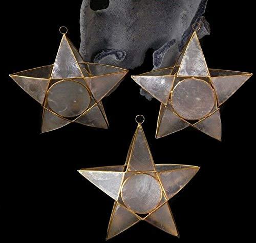 2 Capiz Star w. Gold Trim Christmas Ornament 4