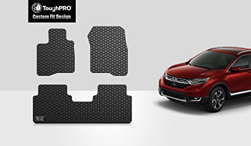 ToughPRO Honda CR-V Floor Mats - All Weather- Heavy Duty - Black Rubber - 2017-2018-2019